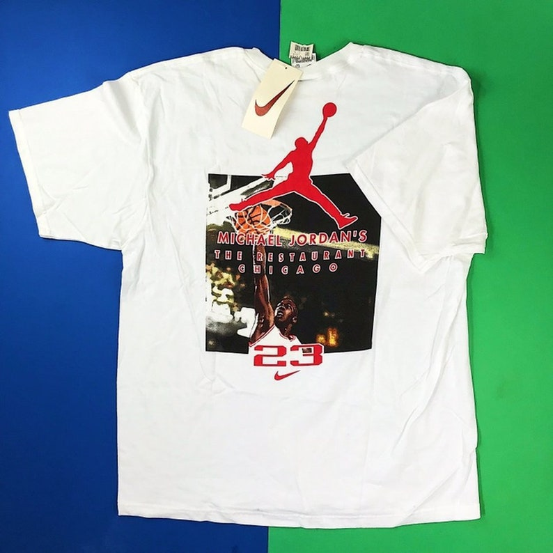 f57a34b4a18515 Deadstock NWT 90s Vintage Nike Michael Jordan s Restaurant