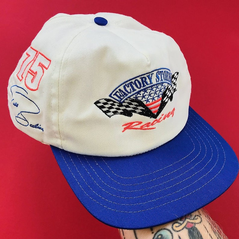 5758e3ebe Vintage 90s Todd Bodine #75 NASCAR Racing Snapback Hat / All Embroidered  Design / Good Pre-owned Condition