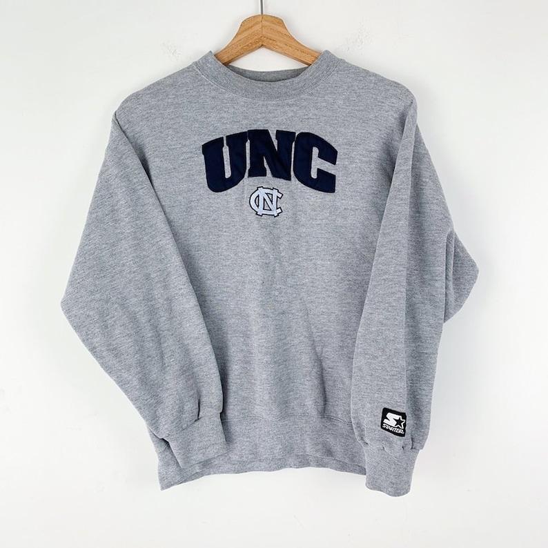 771c41d41212 Vintage Starter Brand UNC North Carolina Gray Crewneck