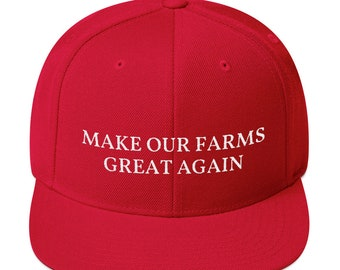 dd094506 Make Out Farms Great Again, Farmers Hat, Gift for Farmers, American Farming,  Maga, Red, Snapback Hat