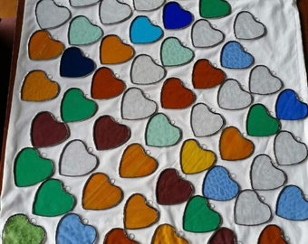Stained Glass Decorations - small Hearts