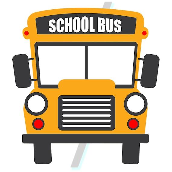 school bus svg bundle school bus clipart school bus etsy rh etsy com School Bus Outline School Bus Black Line