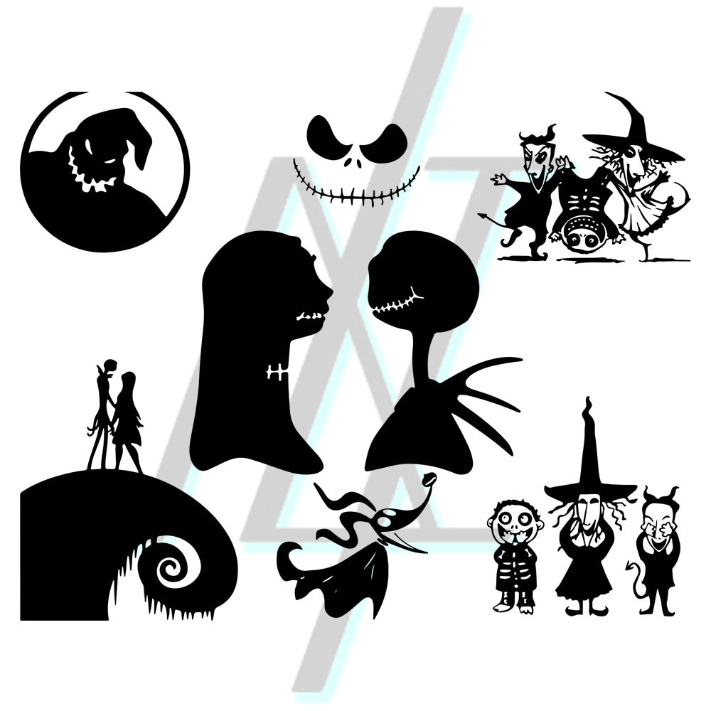 Nightmare Before Christmas Silhouette Vector | www.topsimages.com
