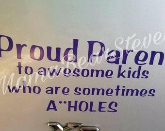 Proud parent decal