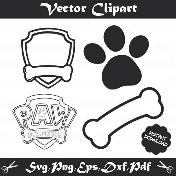 paw patrol svg paw patrolsilhouette paw patrol vector paw. Black Bedroom Furniture Sets. Home Design Ideas