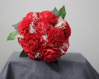 Red Romance, Red Flower Bouquet