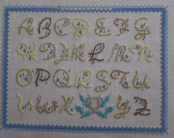 A musical alphabet cross stitch Embroidery