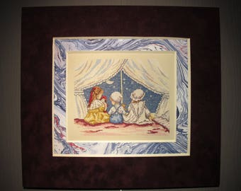 """Embroidered children's picture """"tell a story"""""""