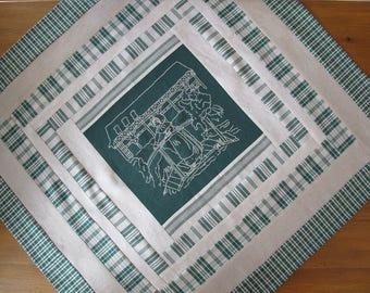 """Alsatian gateway"" square tablecloth"