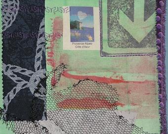 "Textile art print called ""rich"""