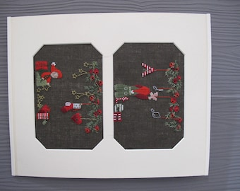 """Embroidered cross stitch picture """"Advent and Christmas"""""""