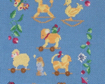 Embroidery blue toys