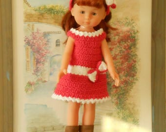 Crochet doll dress and headband