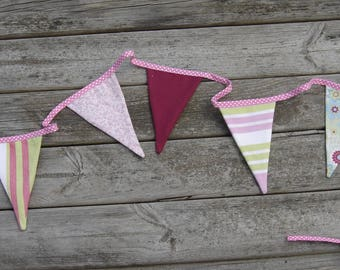 Garland Bunting pink and lime green