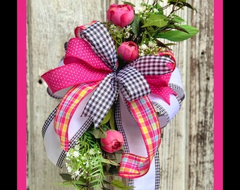 Everyday Bow Bows for Lantern Farmhouse Bow SPRING BOW LANTERN Easter Bow Railing Decor Summer Bow Spring Bow Wreath Valentine Bow