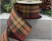 Ribbon, Ribbon for wreaths, Designer ribbon, 2.5 quot ribbon, Fall ribbon, D Stevens ribbon, wreath supplies, luxury ribbon,