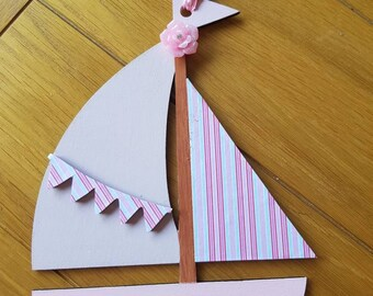 Girls sail boat