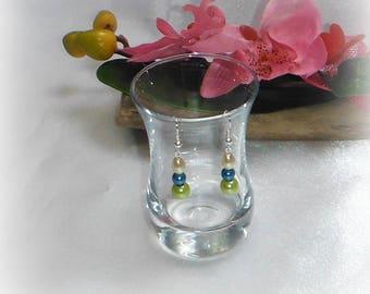 ALBANE - Lime turquoise ivory earrings