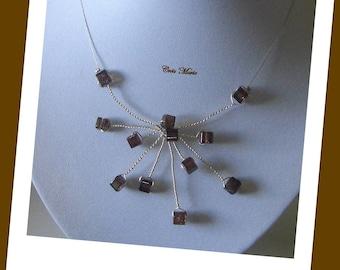 SPARKLE necklace brown Co248
