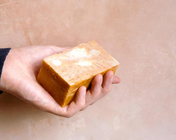 Olive Oil, Coconut, Oat and Honey Soap. All Natural, Cold Process, Old School, Handmade Soap