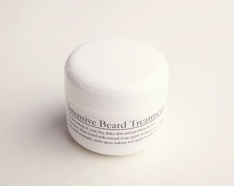Intensive Beard Treatment  For the healing of sore, dry, flaky skin and problem beard areas. Also a great moisturiser for men.