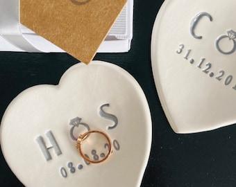 Personalised ring dish ceramic