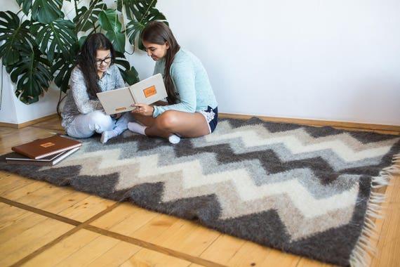 Area Rug Carpet Floor Rug Bedroom Rug Wool Area Rug Wool Rugs | Etsy