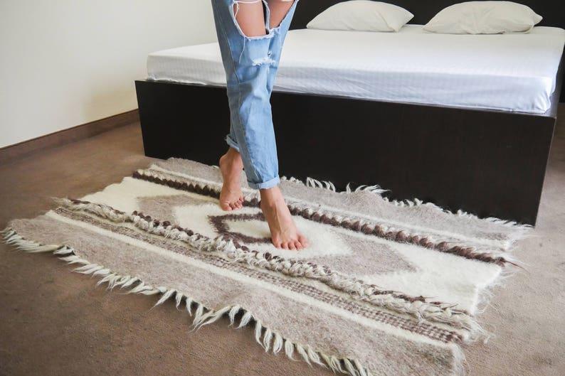 Wool Rug Nordic Carpet Rug Scandinavian Rug Wool Area Rug image 0