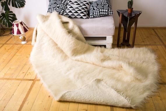 Wool Area Rug White Rug Carpet Wool Rug Area Rug Floor Rugs Bedroom Rug  Soft Rug Home Decor White Rug Carpet Rug Housewarming Gift Rugs