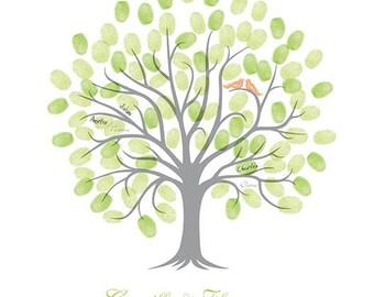 Fingerprint wedding tree / A2 420x594mm / 50-80 signatures