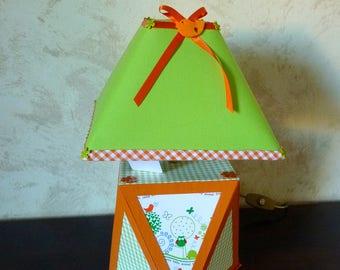 Light green and orange nursery