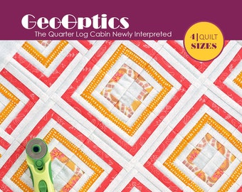 GeoOptics - Printed Quilt Pattern   4 Sizes   by easypatchwork