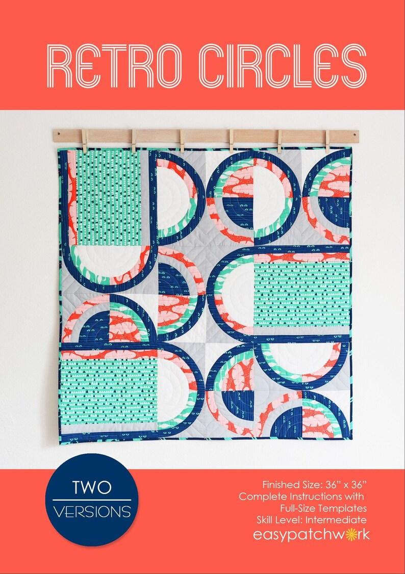 Retro Circles Hardcopy Quilt Pattern English Quilt Version image 0