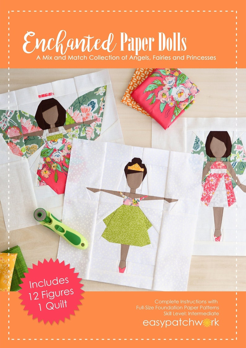 Enchanted Paper Dolls  Quilt Pattern Book  A Mix and Match image 0
