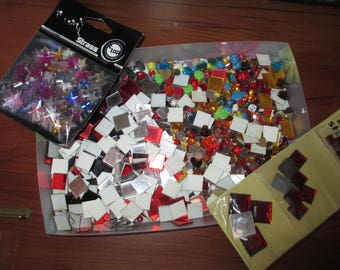 wholesale lot of various shapes and color mosaic rhinestones