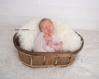 Wooden photo new born