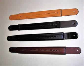 Genuine leather riveting handle - 2 sizes: GM 18 cm PM 16 cm x 2 cm