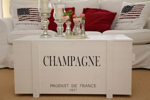 Inside Design Salontafel.Coffee Table Chest Wooden Box Vintage Shabby White Etsy