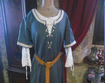 Medieval Renaissance Flax Linen Dress Autumn Etsy