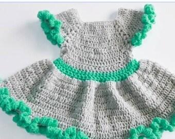Haekeln Baby Kleid Etsy