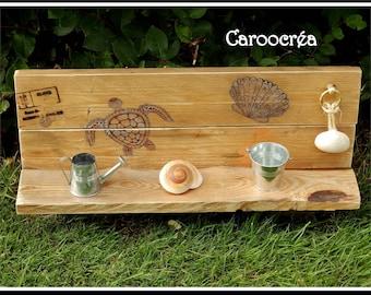 sea decoration, driftwood shelf, recycled wood shelf, reclaimed wood, pallets wood