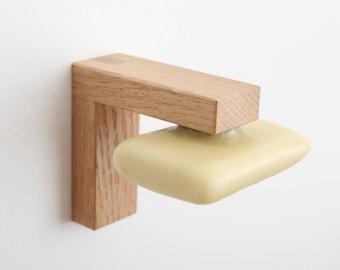 Wooden magnetic soap holder