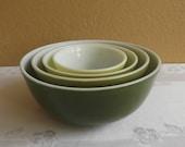 Pyrex Verde Mixing Bowl Set 4 Bowl Set
