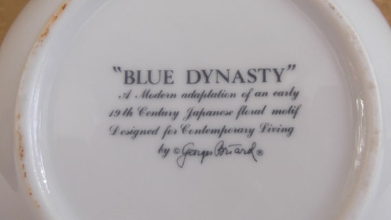 Georges Briard  Blue Dynasty Serving Bowl Vintage Fine China by Georges Briard