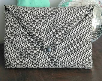 Black and white Japanese fabric bag