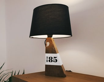 Seaside deco-spirit lamp with driftwood black day blinds