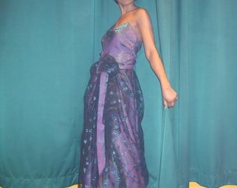 dress night star raw silk