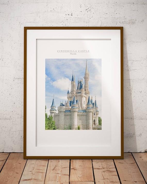 Cinderella Castle Print Magic Kingdom Castle Print Disney | Etsy