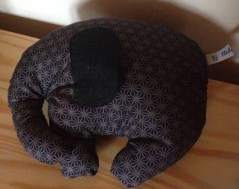 Black Japanese fabric elephant toy