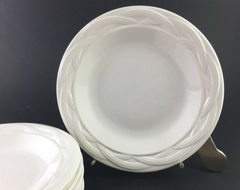 Salad Plate Acadia White by PFALTZGRAFF Set of 6  / Vintage White Salad Plate Pfaltzgraff  / Pfaltzgraff Acadia Replacements
